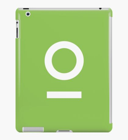 LNOF 'O' Logo White on Fresh Green iPad Case/Skin