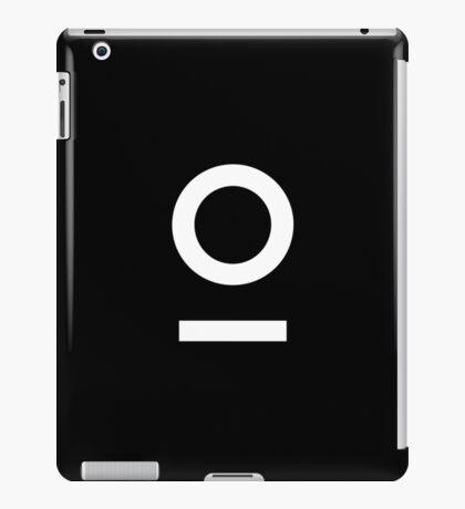LNOF 'O' Logo white on Black iPad Case/Skin