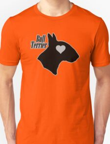 Bull Terrier <3, outlined! Unisex T-Shirt