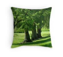 Summer Willows Throw Pillow