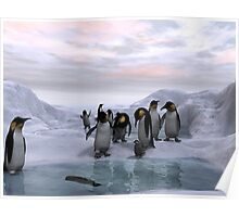 Antarctic Dawn Poster