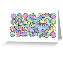 Colourful Pattern 1 Greeting Card