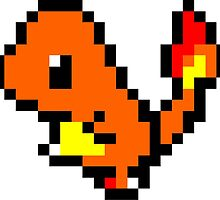 Pokemon 8-Bit Pixel Charmander 004 by slr06002