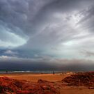 Storm Approaching Birubi Beach by Mike Salway