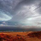 Storm Approaching Birubi Beach by Mike Salway