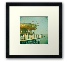 Carousel by the Sea Framed Print