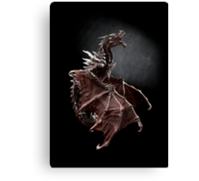 Alduin dragon from Skyrim game Canvas Print