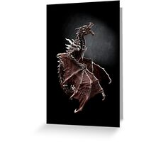 Alduin dragon from Skyrim game Greeting Card