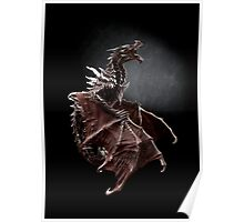 Alduin dragon from Skyrim game Poster