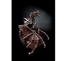 Alduin dragon from Skyrim game Photographic Print