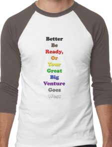 Resistor Code 13 - Better be ready... Men's Baseball ¾ T-Shirt