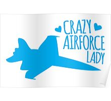 Crazy Airforce Lady Poster