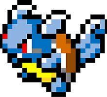 Pokemon 8-Bit Pixel Wartortle 008 by slr06002