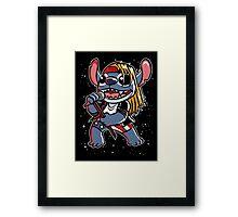 Space & Roses Framed Print