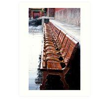Forbidden City Long Bench Art Print