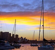 Just before sunset New Years Eve 2009 Sydney Australia by evon
