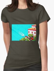 Agropoli: landscape with beach Womens Fitted T-Shirt