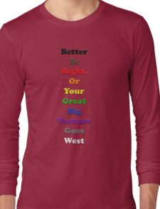 Resistor Code 16 - Better Be Right... Long Sleeve T-Shirt