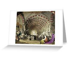 Old Turkish Grand Bazaar Greeting Card