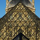 Pyramids At The Louvre by Christopher Dunn