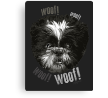 Shih-Tzu Says Woof! Woof! Canvas Print