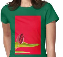 Flourish one single red tulip Womens Fitted T-Shirt