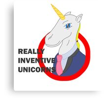 Really Inventive Unicorns Canvas Print