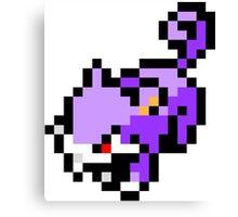 Pokemon 8-Bit Pixel Rattata 019 Canvas Print