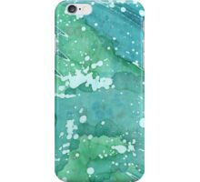 Blue Police Box - Bluegreen Galaxy I iPhone Case/Skin