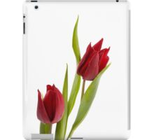 Two red tulip heads  iPad Case/Skin