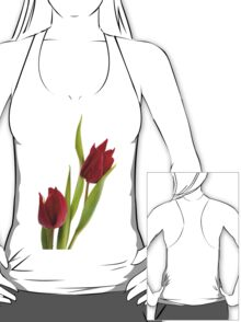 Two red tulip heads  T-Shirt