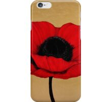 Remember Crimson Red Large Poppy Painting iPhone Case/Skin