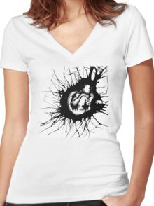 Human Becoming Women's Fitted V-Neck T-Shirt