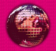 70s Pink & Hot Stuff Disco Ball by thematics