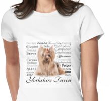 Yorkie Traits Womens Fitted T-Shirt