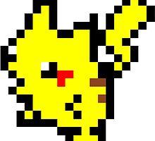 Pokemon 8-Bit Pixel Pikachu 025 by slr06002