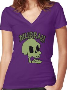 Murray! The laughing skull Women's Fitted V-Neck T-Shirt