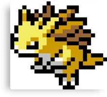Pokemon 8-Bit Pixel Sandslash 028 Canvas Print
