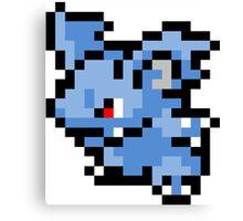 Pokemon 8-Bit Pixel Nidorina 030 Canvas Print