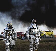After The Firefight, Firefighters HD Photograph by tshirtdesign