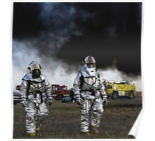After The Firefight, Firefighters HD Photograph Poster