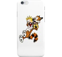 calvin and hobbes shock iPhone Case/Skin