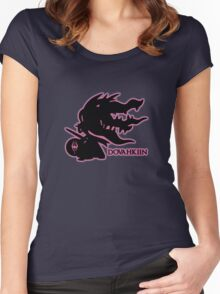 Pokémon Dovahkiin - Megamawile Women's Fitted Scoop T-Shirt