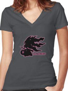 Pokémon Dovahkiin - Megamawile Women's Fitted V-Neck T-Shirt