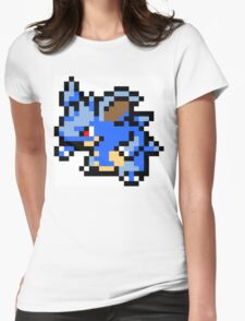 Pokemon 8-Bit Pixel Nidoqueen 031 Womens Fitted T-Shirt