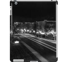 City night lights black and white iPad Case/Skin