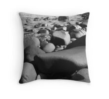 low view beach scene Throw Pillow