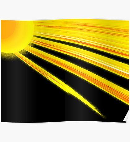 Sunflower Rays Poster
