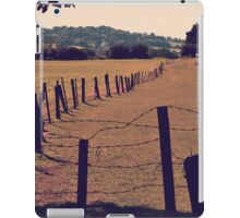 Vintage Fence and Field iPad Case/Skin
