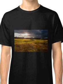 breathtaking sunset above meadow  Classic T-Shirt